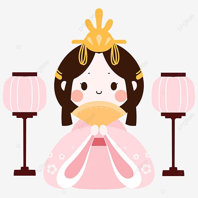march 3 dolls festival pink kimono girl