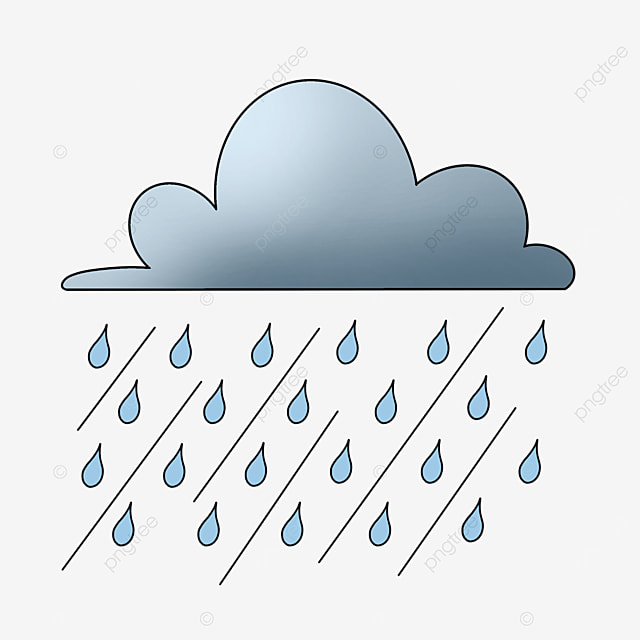 يوم ممطر خط سحابة المطر قصاصات فنية ممطر تمطر سحاب Png وملف Psd للتحميل مجانا