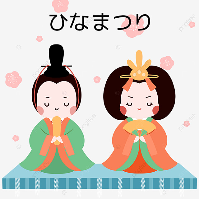 traditional cute ornaments for dolls festival on march 3rd
