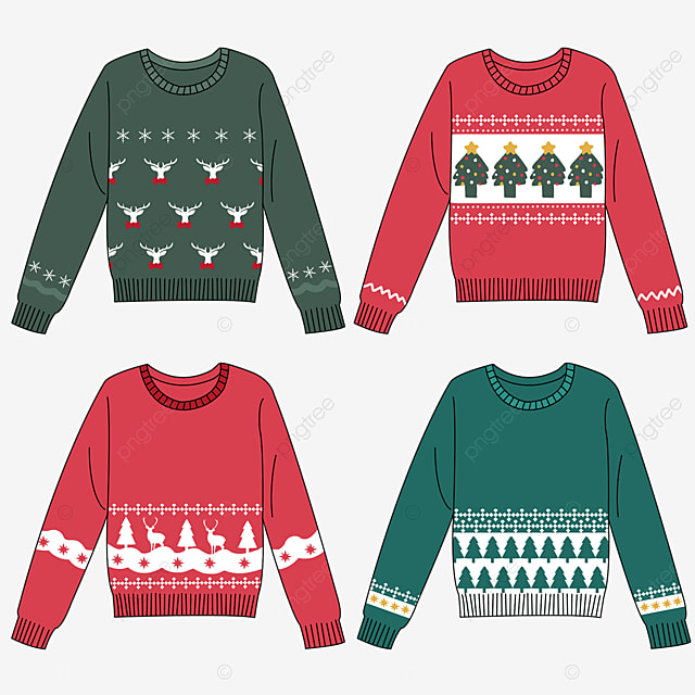 christmas atmosphere sweater clipart