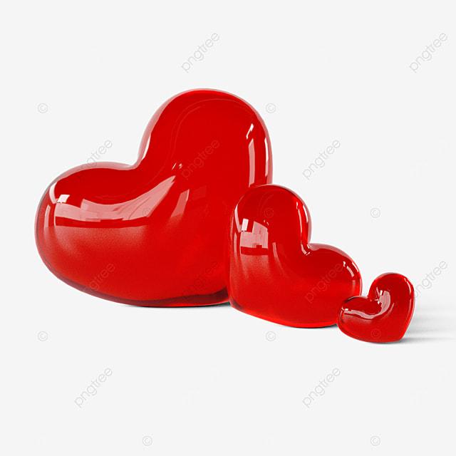 3d valentine glass heart