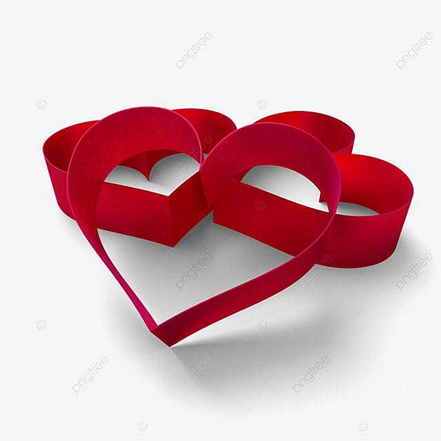 3d valentines day love border