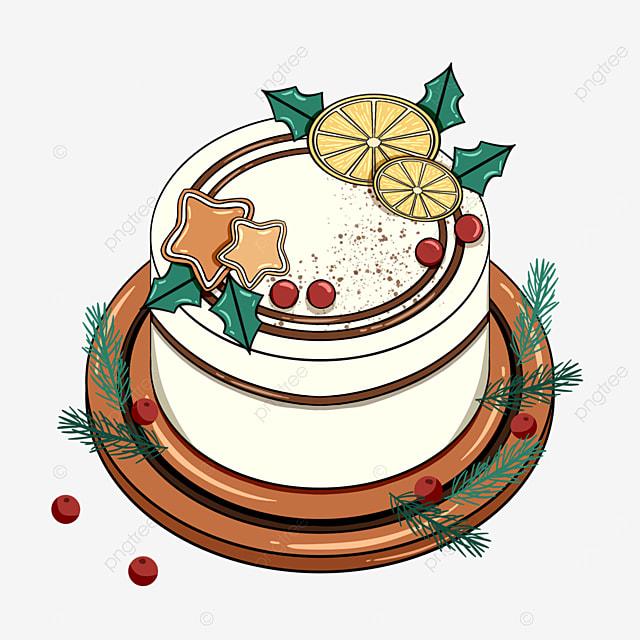 christmas cartoon holiday cake