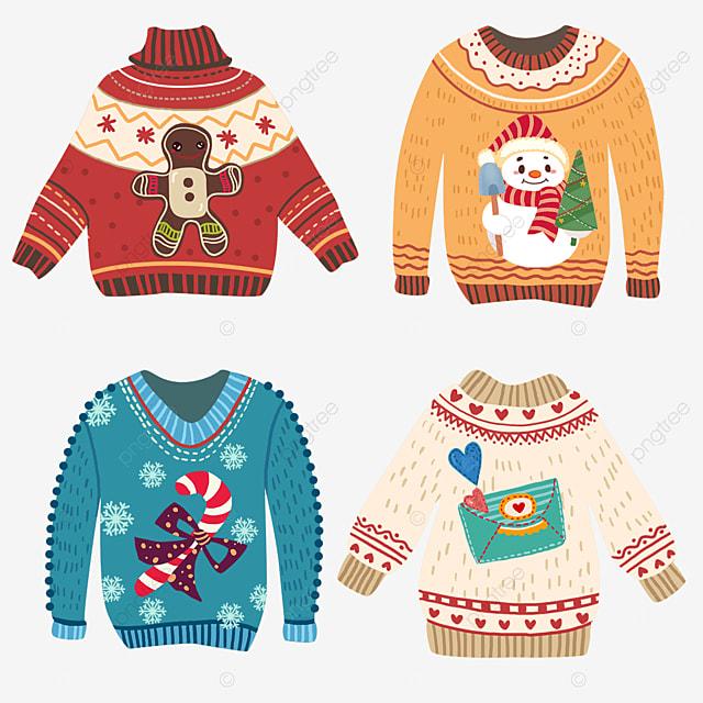 christmas cartoon ugly sweater