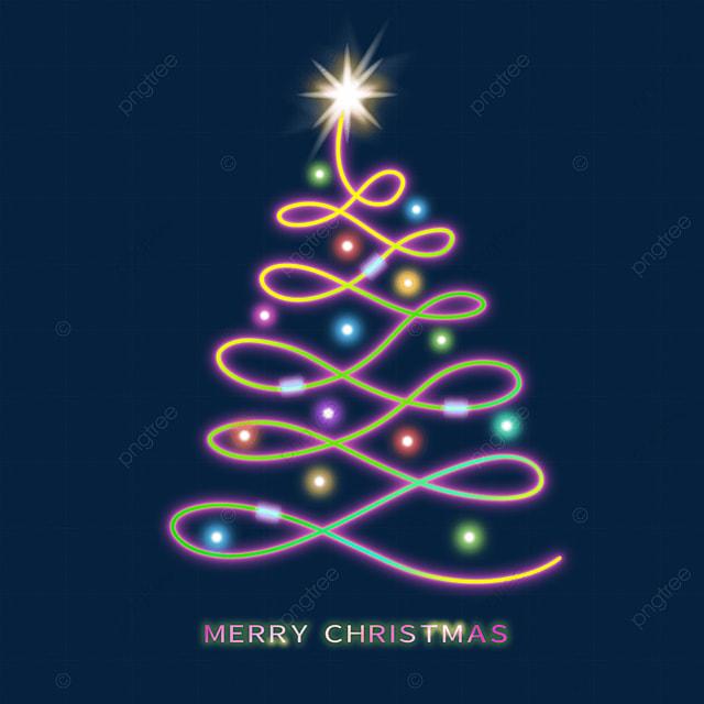 christmas glowing christmas tree