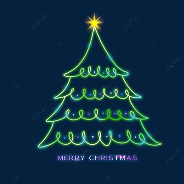 christmas glowing green christmas tree