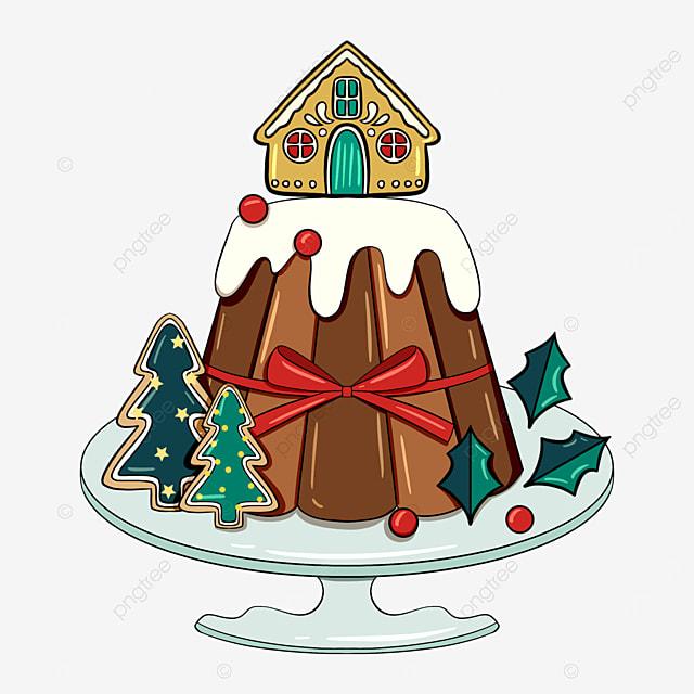 christmas holiday cartoon cake