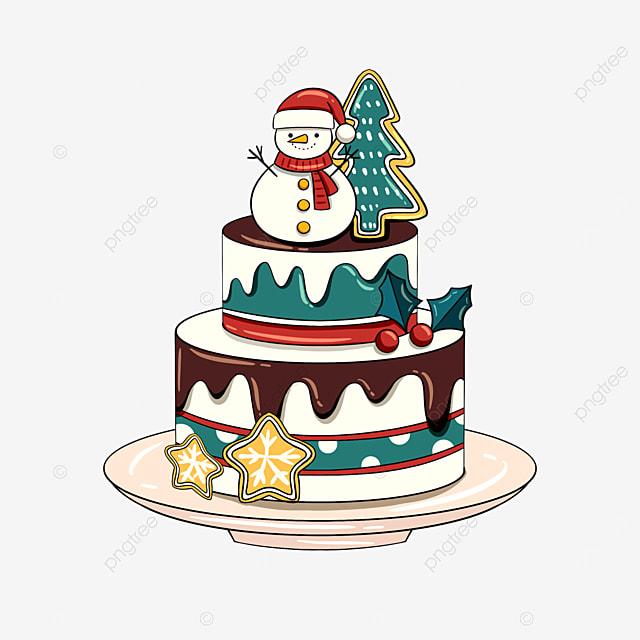 christmas holiday cute cake