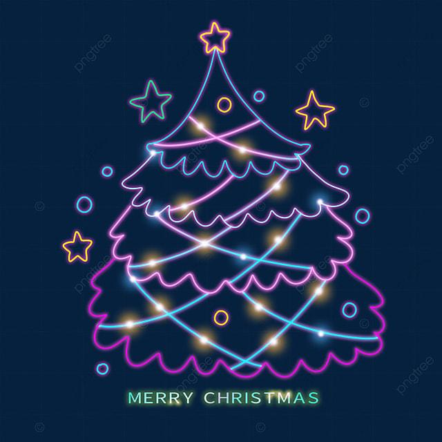 christmas line color christmas tree
