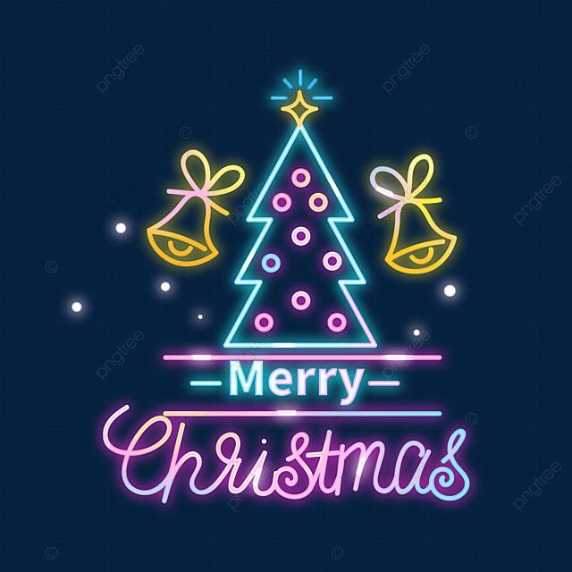 christmas neon color christmas tree