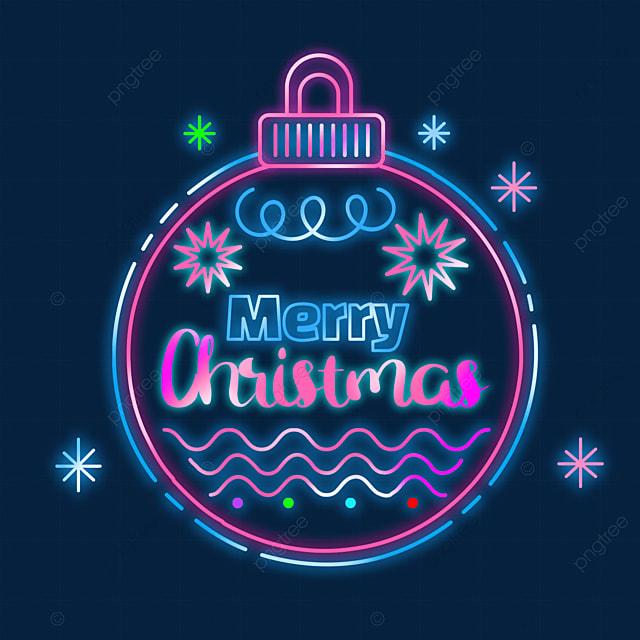 christmas neon creative lights