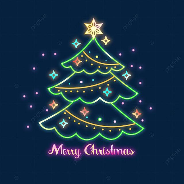 christmas neon green christmas tree