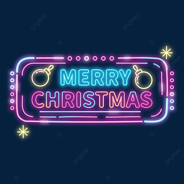 christmas neon sign