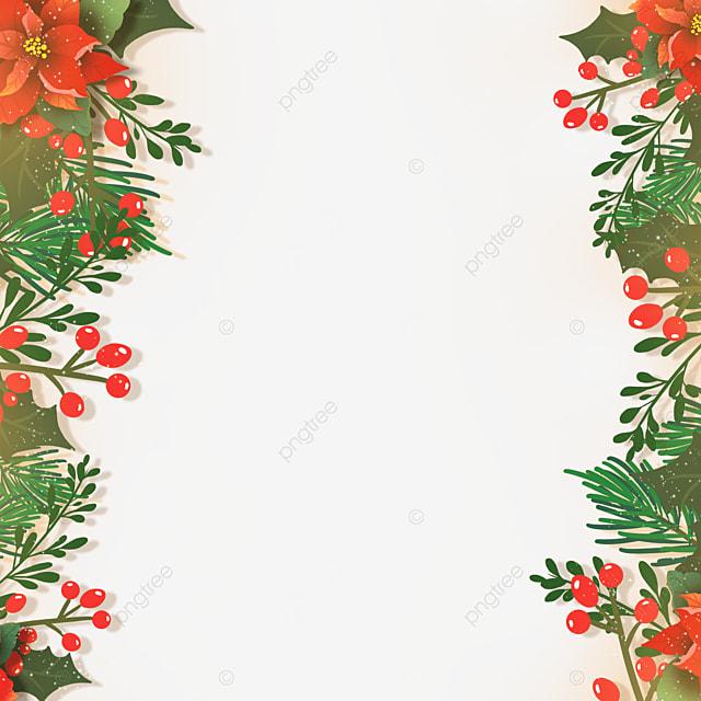 christmas poinsettia christmas flower flat style illustration