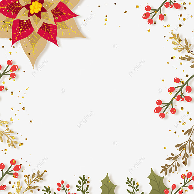 christmas poinsettia christmas flower grainy border