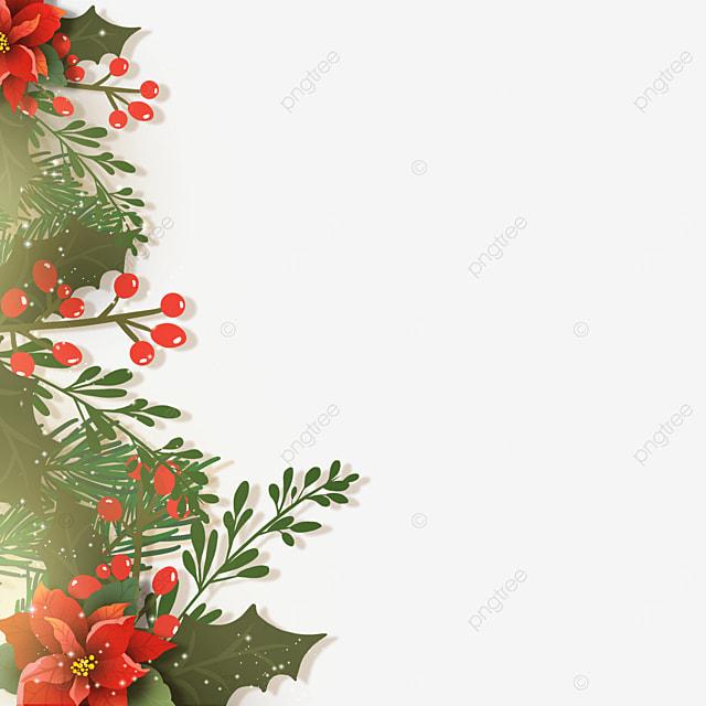 christmas poinsettia light effect christmas flower border