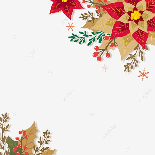christmas poinsettia paper cut style christmas flower illustration
