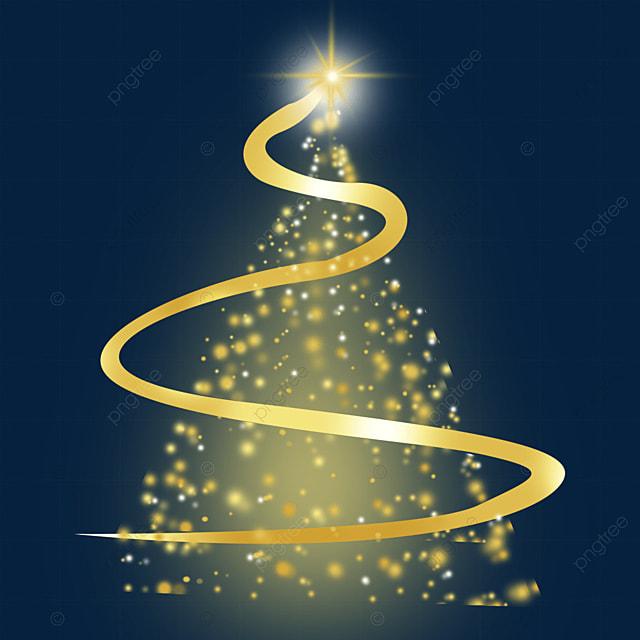christmas tree glowing light effect