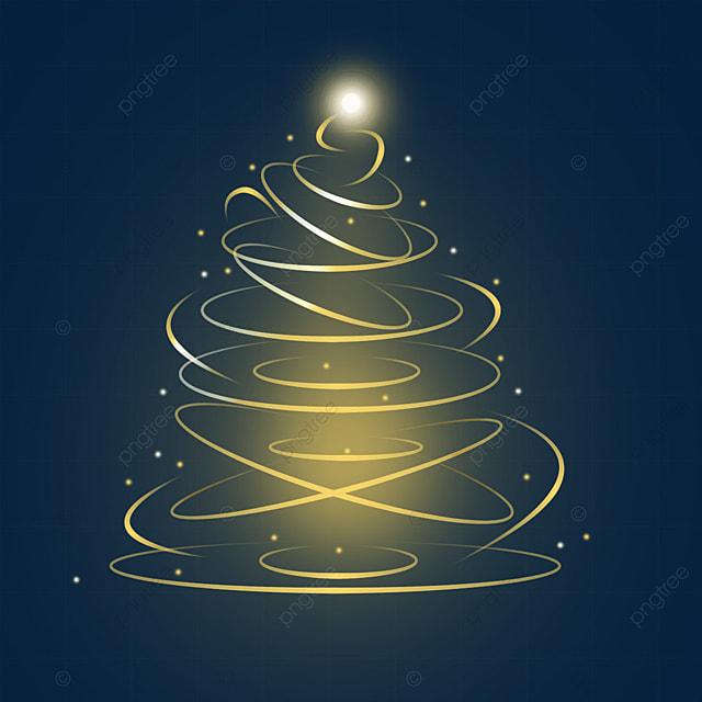christmas tree light effect glowing merry christmas