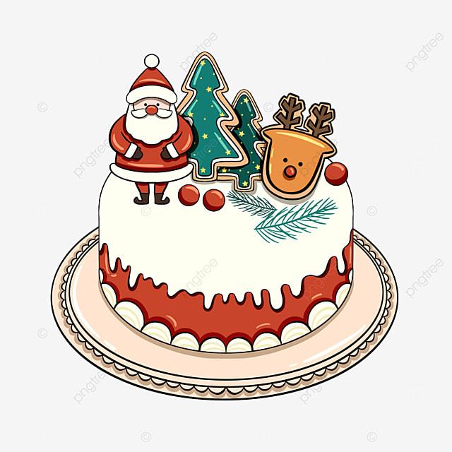 colorful christmas holiday cake