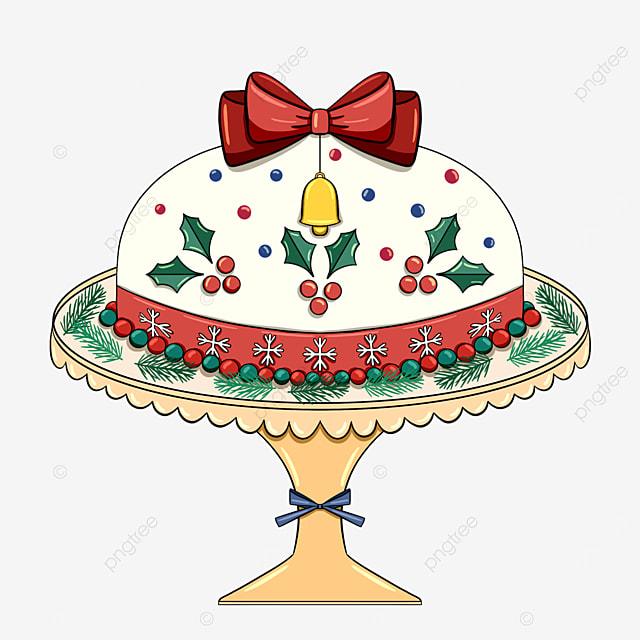 cute style christmas holiday cake