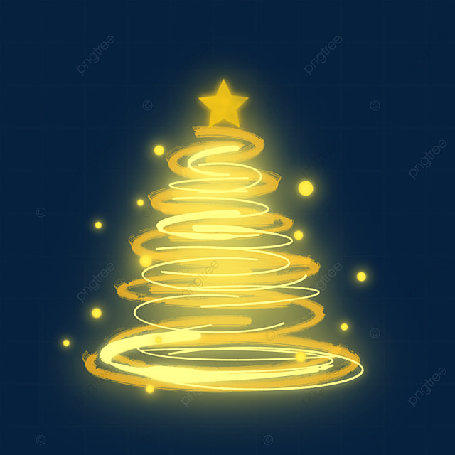 glowing light effect christmas tree