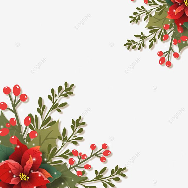 realistic effect christmas poinsettia poinsettia flower border