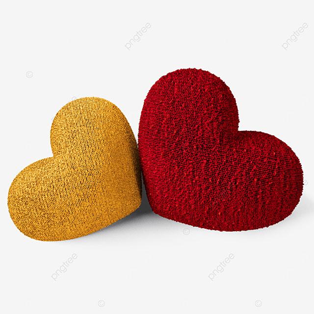 three dimensional valentines day yarn heart