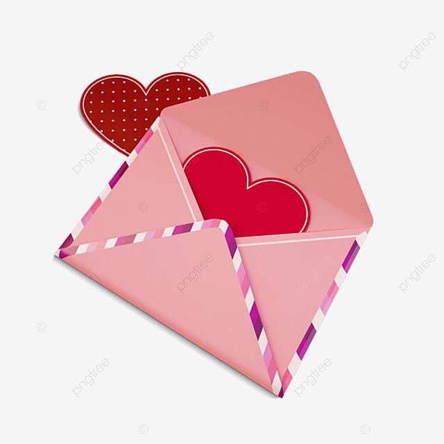 valentine love envelope