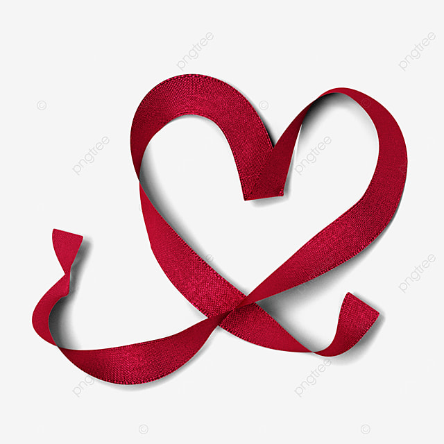valentine love ribbon