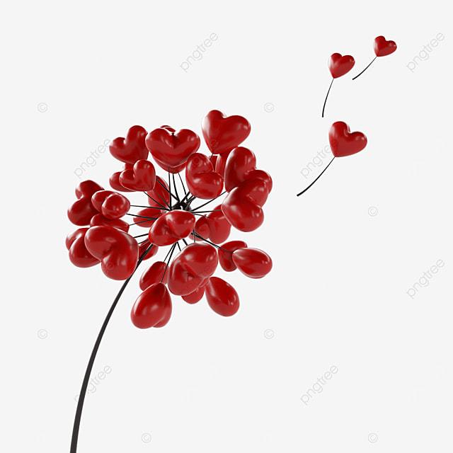 valentines day love dandelion