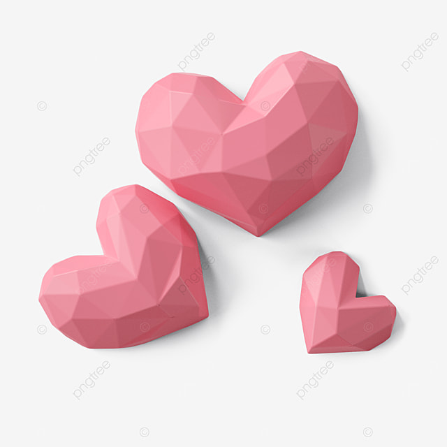 valentines day pink geometric love heart