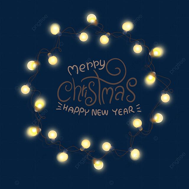 yellow christmas glowing bulb