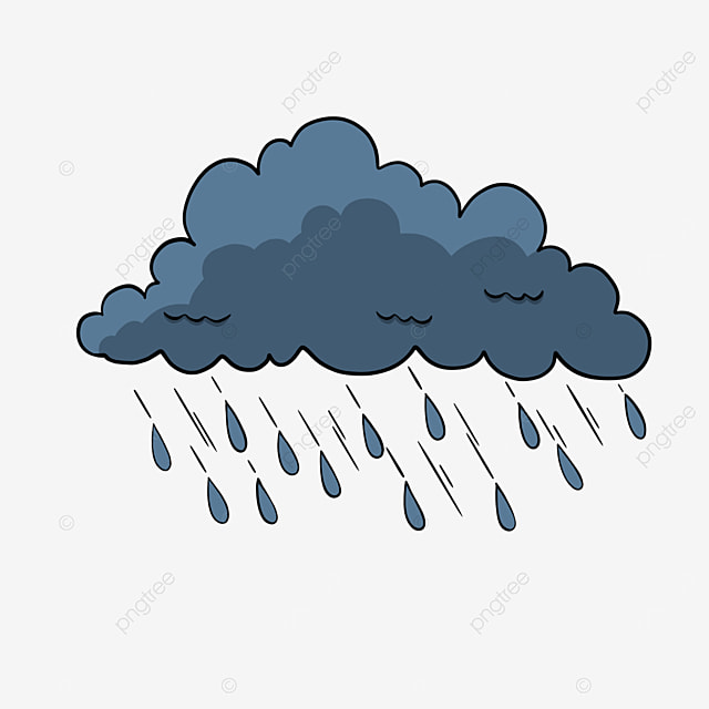 الكرتون نمط سحابة المطر سحابة فنية السحب الداكنة أسلوب الرسوم المتحركة Png وملف Psd للتحميل مجانا