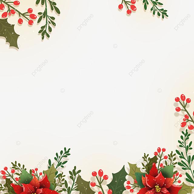 christmas poinsettia beautiful christmas flower border