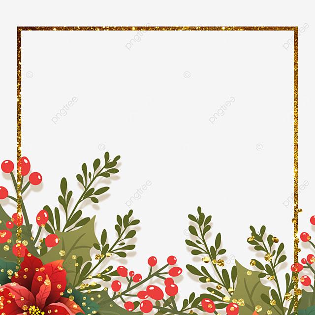 christmas poinsettia square christmas flower border