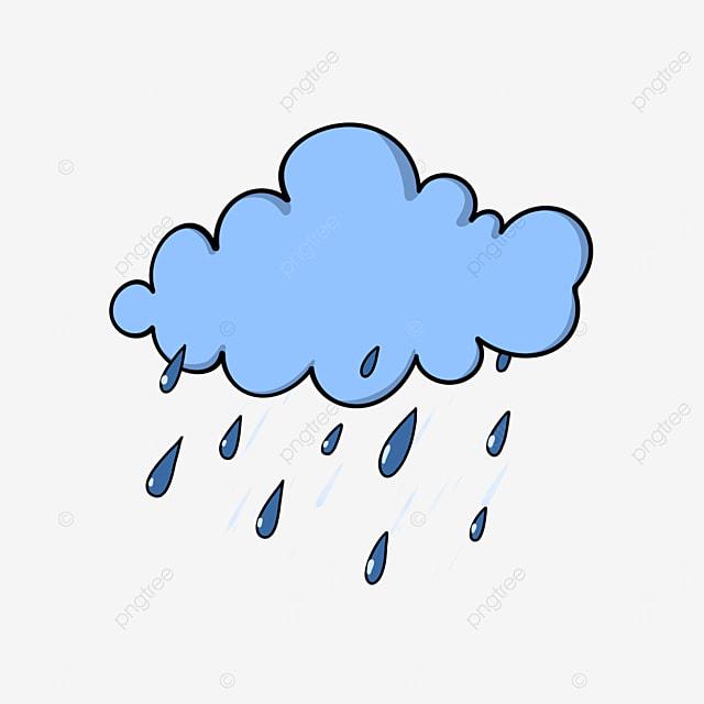 سحابة المطر الكرتون نمط قطرات المطر الكرتون كرتون بيضاء قطرات الماء Png وملف Psd للتحميل مجانا