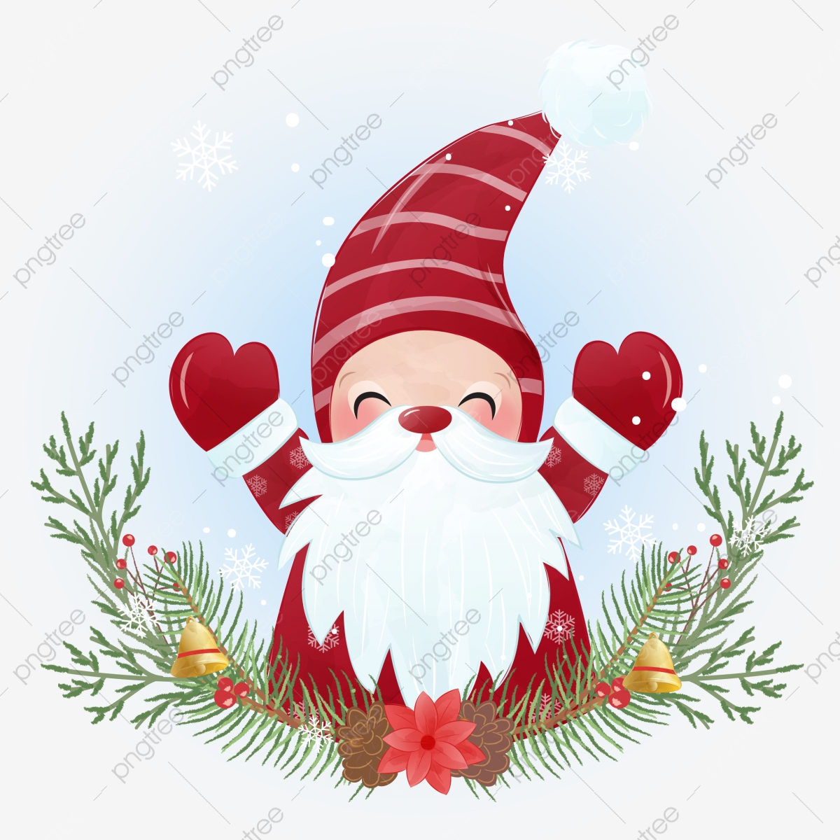 Gnome For Christmas Background And Greeting Card Gnome Clipart Holiday Background Png And Vector With Transparent Background For Free Download