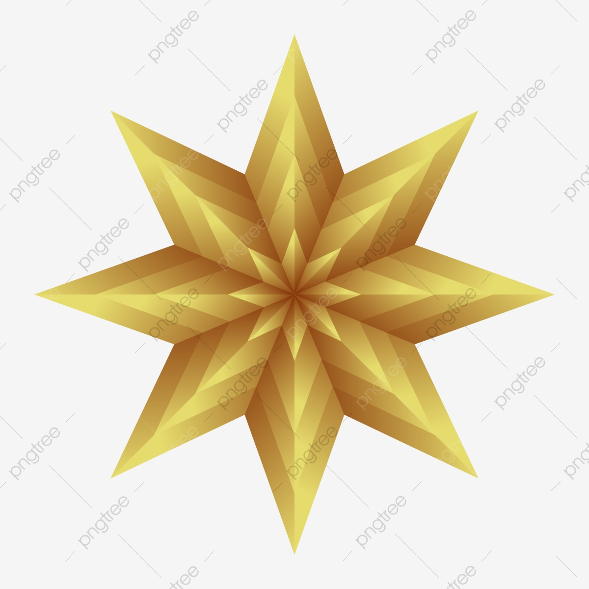 Golden Shining Star With Eight Corners For Christmas Celebration Event Graphic Ball Png And Vector With Transparent Background For Free Download