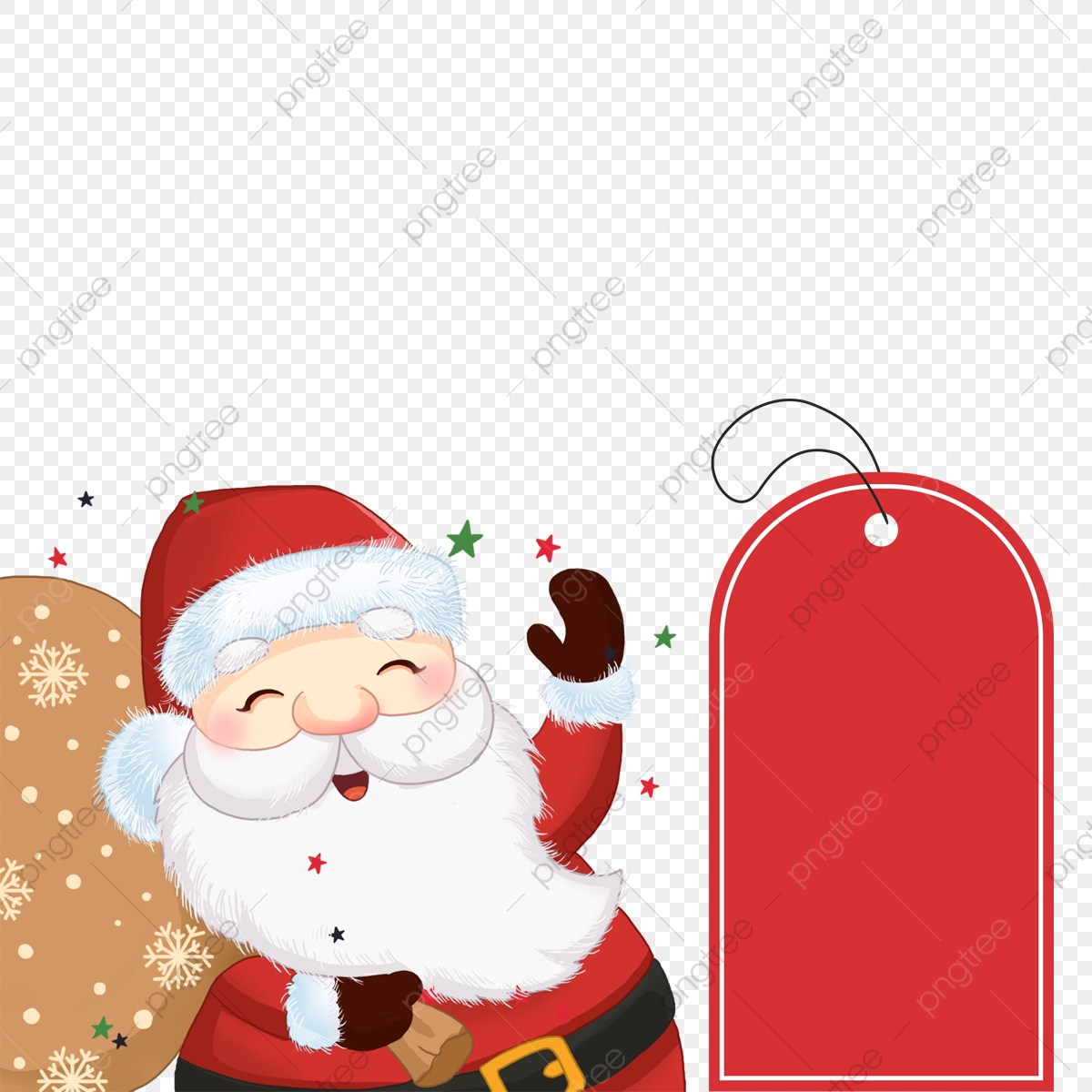 Old Man Carrying Gift Bag With Christmas Label Lovely Christmas Label Png Transparent Clipart Image And Psd File For Free Download