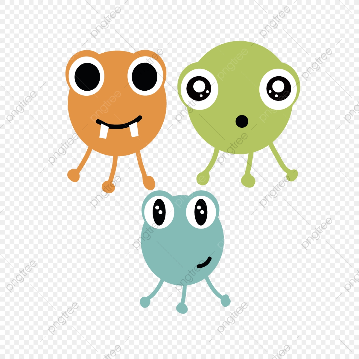 Cute Monsters Png Vector Psd And Clipart With Transparent Background For Free Download Pngtree