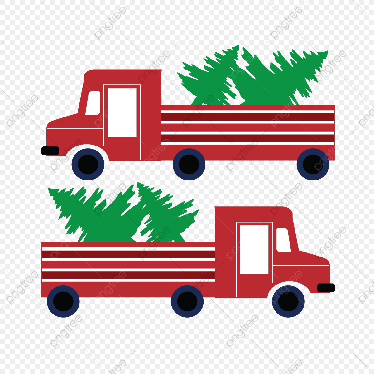 Svg Red Truck Full Of Christmas Trees Svg Red Van Green Christmas Tree Png And Vector With Transparent Background For Free Download