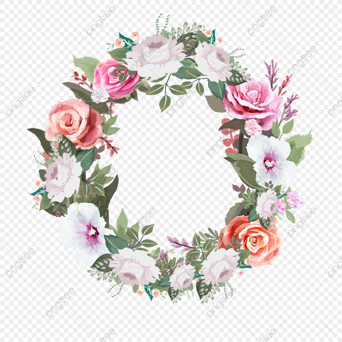 Watercolor Wedding Holiday Wreath Festival Wedding Watercolor Png Transparent Clipart Image And Psd File For Free Download