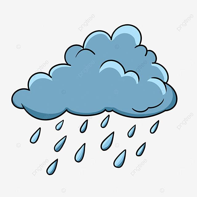تمطر الغيوم الزرقاء لطيف تمطر سحاب قصاصة فنية Png وملف Psd للتحميل مجانا