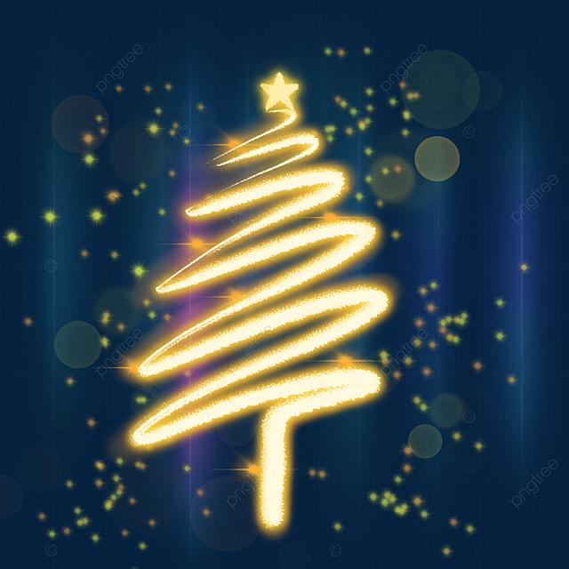 christmas light effect glowing christmas tree