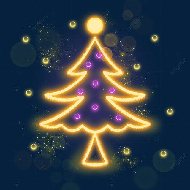 decorative glowing christmas tree light effect