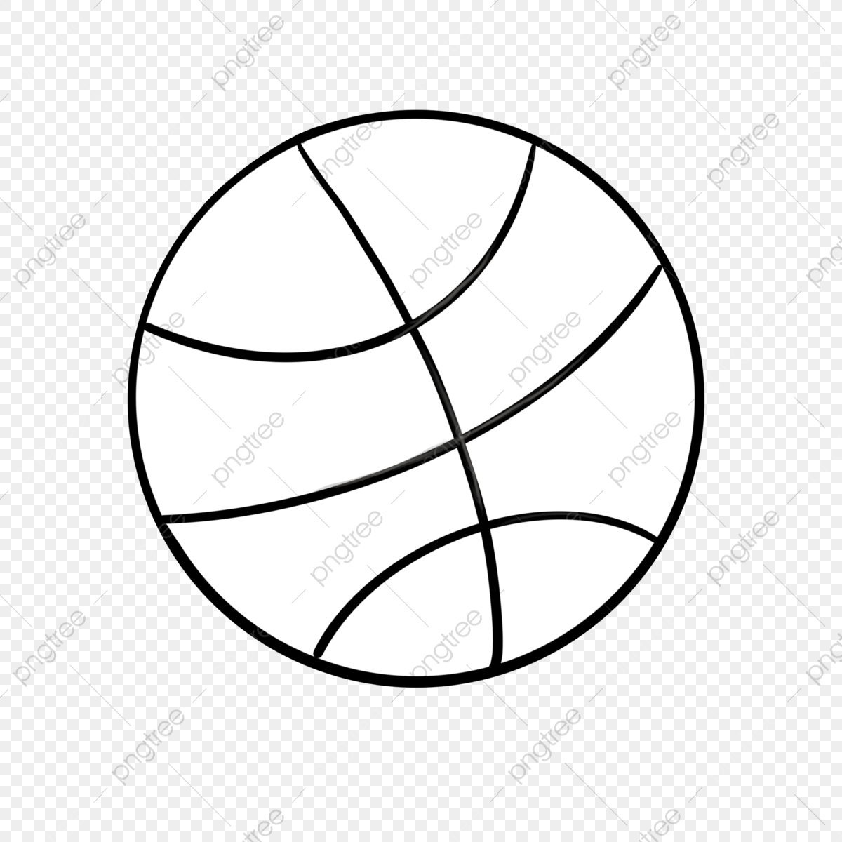 Black And White Basketball Clipart Basketball Simple Clip Art Png Transparent Clipart Image And Psd File For Free Download