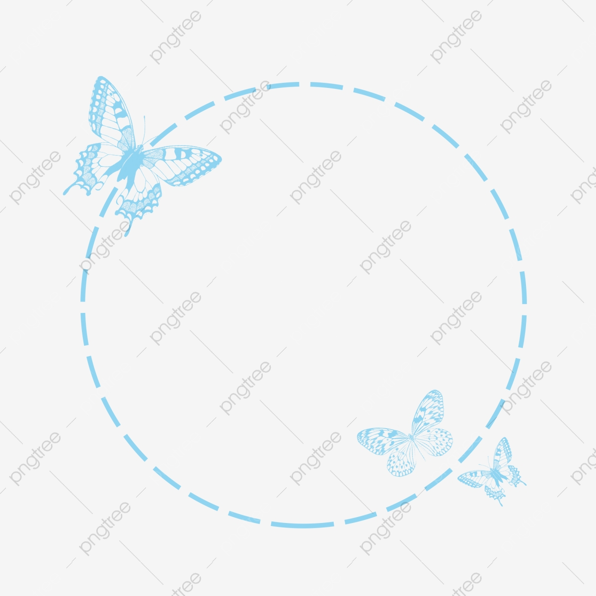 Butterfly Border Butterfly Dotted Line Circle Png Transparent Clipart Image And Psd File For Free Download