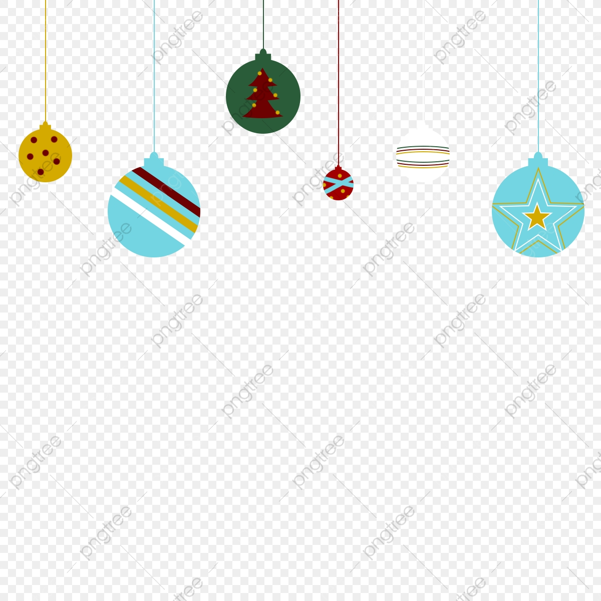 Colorful Christmas Tree Balls With Painting Christmas Tree Balls Png Transparent Clipart Image And Psd File For Free Download
