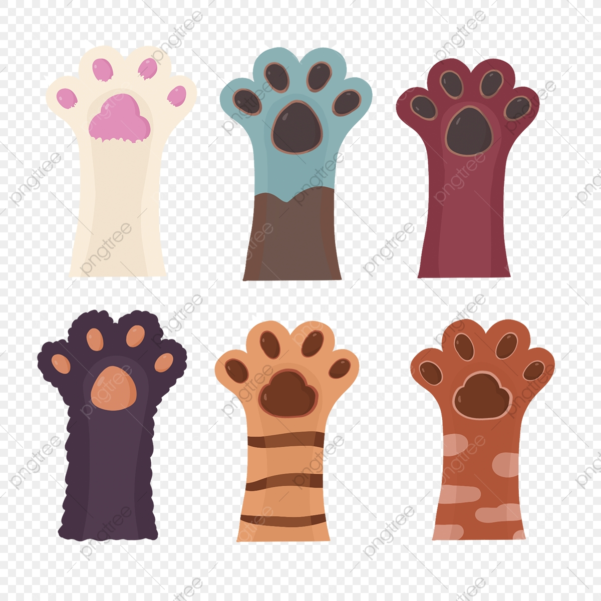 Cute Cat Paw Clipart Cat Paw Claw Cat Png Transparent Clipart Image And Psd File For Free Download